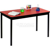 "Correll Lab Tables 24""W x 72""L x 36""H - Red"