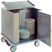 """Heated Dish Storage Cart, Rotary Design, Enclosed Type, For 252- 12-1/2"""" Max Plates"""