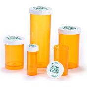 Psa REX-L-20, Child Resistant Pharmacy Vials, Amber Screw-Lock, 20 Dram, No Caps - Pkg Qty 180