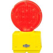 Cortina Solar Barricade Light, Yellow Body, Red Lens, 03-10-RSBL - Pkg Qty 4