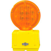 Cortina Solar Barricade Light, Yellow Body, Amber Lens, 03-10-SBLG