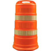 "Cortina Traffic Barrel Drum With (4) 4"" High Intensity Grade Reflective Stripes, HDPE, 03-780-4HI"