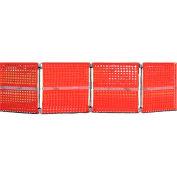 "Cortina Modular Barricade System, 48"" x 48"", Orange, 03-908"
