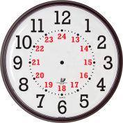 """12-3/4"""" Wall Clock, Slimline 12/24-Hour Quartz"""