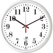 "Chicago Lighthouse 12.75"" Round Slimline Wall Clock, White"