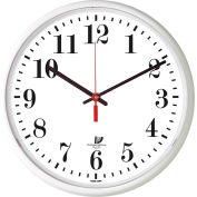 "Chicago Lighthouse 12.75"" Round Indoor/Outdoor Wall Clock, White"