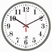 """Chicago Lighthouse 12.75"""" Round Indoor/Outdoor Wall Clock, Gray"""