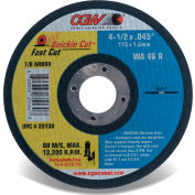"CGW Abrasives 35130 Fast Cut Thin Cutting Wheel 4-1/2"" x 0.045"" x 7/8"" Type 1 Aluminum Oxide - Pkg Qty 25"