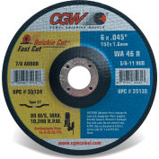 "CGW Abrasives 35132 Fast Cut Thin Cutting Wheel 4-1/2"" x 0.045"" x 7/8"" Type 27 Aluminum Oxide - Pkg Qty 25"