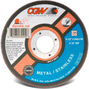 "CGW Abrasives 35516 Cut-Off Wheel 5"" x 7/8"" 36 Grit Type 1 Zirconia Aluminium Oxide - Pkg Qty 25"
