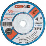 Fast Cut - Type 27 Depressed Center Wheels, Cgw Abrasives 36261 - Pkg Qty 25