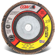 "CGW Abrasives 36348 Abrasive Flap Disc 5"" x 7/8"" 40 Grit Zirconia - Pkg Qty 10"