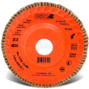 "Cgw 4-1/2""X7/8"" Trimmable Z3 Zirconia Compact 40 Grit Flap Disc - Pkg Qty 10"