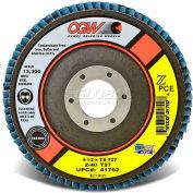 "CGW Abrasives 41744 Abrasive Flap Disc 4-1/2"" x 7/8"" 60 Grit Zirconia - Pkg Qty 10"