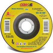 "CGW Abrasives 45114 Cut-Off Wheel 9"" x 5/8 - 11"" 36 Grit Type 27 Aluminum Oxide - Pkg Qty 10"