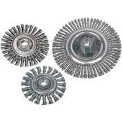 "CGW Abrasives 49639  Radial Knot Wire Wheel Brush Carbon Stringer Bead 4"" - Pkg Qty 10"