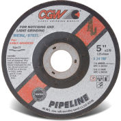 "CGW Abrasives 59100 Depressed Center Wheel 4-1/2"" x 1/8"" x 7/8"" 24 Grit T27 Aluminium Oxide - Pkg Qty 25"
