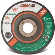 "CGW Abrasives 70099 Depressed Center Wheel 4-1/2"" x 1/4"" x 7/8"" Type 27 30 Grit Aluminium Oxide - Pkg Qty 25"