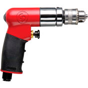 """Chicago Pneumatic CP300RC, 1/4"""" Pistol Air Drill, 0.27 HP, 2700 RPM, 4.1 CFM, Reversible, 90 PSI"""