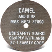 "CGW Abrasives 35501 Cut-Off Wheel 3"" x 3/8"" 60 Grit Type 1 Aluminum Oxide - Pkg Qty 50"