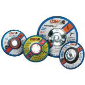 "CGW Abrasives 35630 Depressed Center Wheel 6"" x 1/8"" x 7/8"" Type 27 24 Grit Aluminium Oxide - Pkg Qty 25"