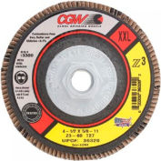 "Cgw Camel Grinding Wheels 4-1/2""X7/8""  T27 Z3 Zirconia Xxl 60 Grit Flap Disc - Pkg Qty 10"