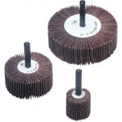 """CGW Abrasives 39909 Flap Wheel 1"""" x 1/4"""" x 1"""" 80 Grit Aluminum Oxide - Pkg Qty 10"""