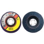 "CGW Abrasives 42105 Abrasive Flap Disc 4"" x 5/8"" 80 Grit Zirconia - Pkg Qty 10"