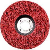 "CGW Abrasives 59204 Ez Strip Wheels, Non-Woven 4.5"" Extra Course Silicon Carbide - Pkg Qty 10"