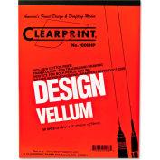 Clearprint® Design Vellum Paper, 16lb, White, 8-1/2 x 11, 50 Sheets/Pad