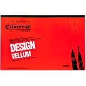 Clearprint® Design Vellum Paper, 16lb, White, 11 x 17, 50 Sheets/Pad