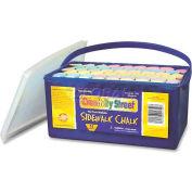 "Chenille Kraft® Creativity Street Sidewalk Chalk, 4""H x 1""Dia, Assorted, 52 Pcs/Box"