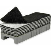 Chenille Kraft® 12-in-1 Whiteboard Eraser, Layered Felt, Black/White