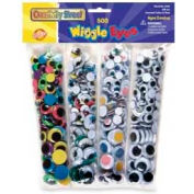 Chenille Kraft® Wiggle Eyes, Assorted Colors/Sizes, 500/Pack