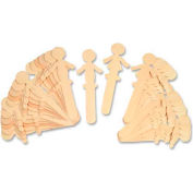 Chenille Kraft® People Shaped Wood Craft Sticks, Natural, 36 Sticks/Pack