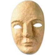 "Chenille Kraft® Paper Mache Masks, 6""W x 3""D x 8""H, Beige, 12/Pack"