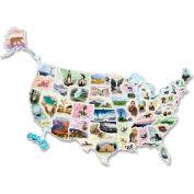Chenille Kraft® WonderFoam® USA Photo Map Floor Puzzle, 57 Pieces/Set