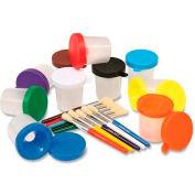 Chenille Kraft® No Spill Paint Cup & Brush Set, Assorted, 10 Pcs/Set