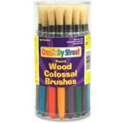 Chenille Kraft® Round Colossal Brush Canisters, Assorted, 30 Pcs/Set