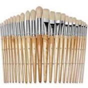 Chenille Kraft® Preschool Brush Set, 12 Flat & 12 Round Brushes, 24 Pcs/Set