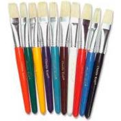 Chenille Kraft® Flat Stubby Brush, Assorted Handles, 10 Brushes/Set