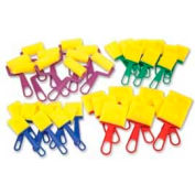 Chenille Kraft® Foam Brushes Classroom Pack, Assorted, 40 Pieces/Pack