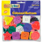 Chenille Kraft® Colossal Buttons, Assorted Colors/Sizes, 60 Pcs/Pack