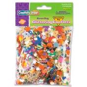 Chenille Kraft® Glittering Confetti Bonus Bag, Assorted, 4 oz. Bag, 2 Bags/Pack
