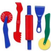 Chenille Kraft® Clay Dough Tools Set, Assorted Colors, 5 Pieces/Pack