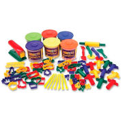 Chenille Kraft® Classic Playdough and Tool Set, Assorted Colors, 84 Pieces/Set