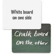 """Chenille Kraft® 2-in-1 White Board/Chalkboard Combo, 12""""W x 9""""H, White/Green, 1 Each"""