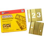 """6"""" Brass Interlocking Stencil Numbers, 15 Piece Set"""