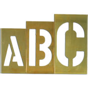 "12"" Brass Interlocking Stencil Gothic Style Letters, 33 Piece Kit"