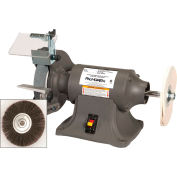 "Palmgren 9682068 Bench Grinder Buffer , 6"" Wheel Dia, 1/4HP, 115/230V"